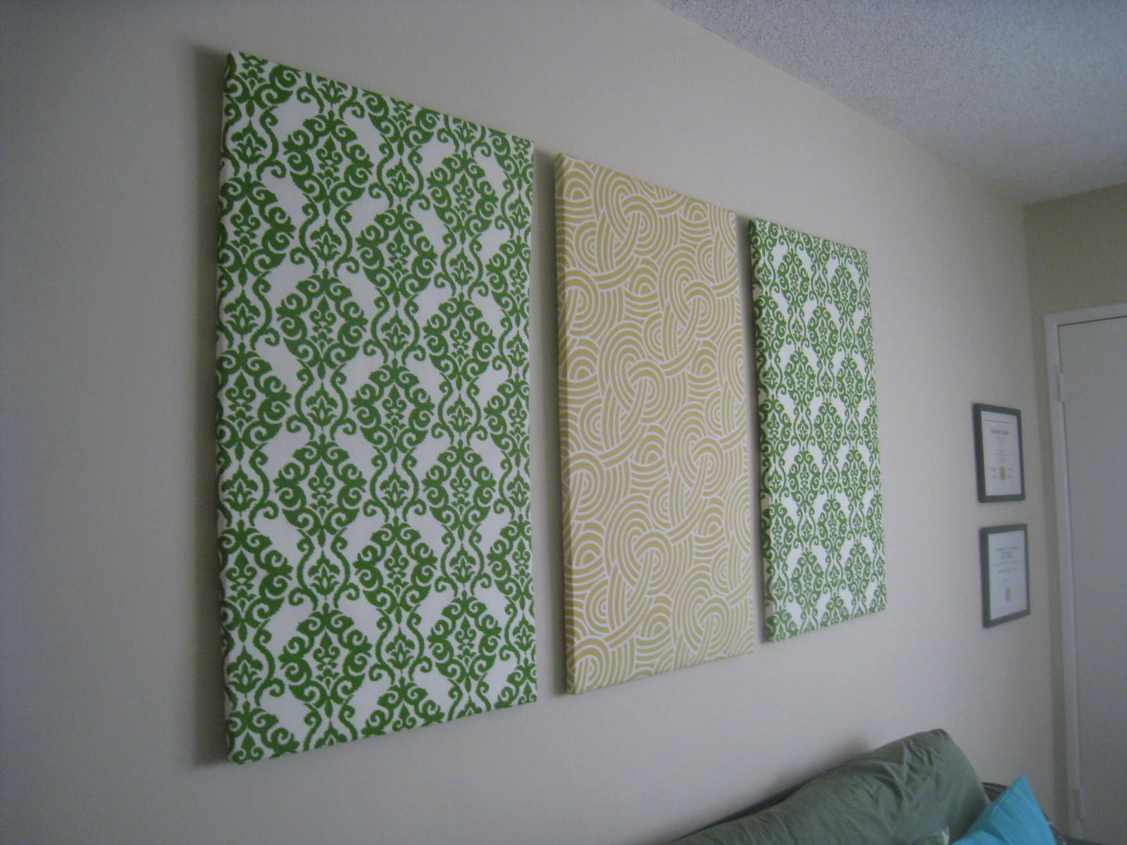 DIY Fabric Wall Art   ...